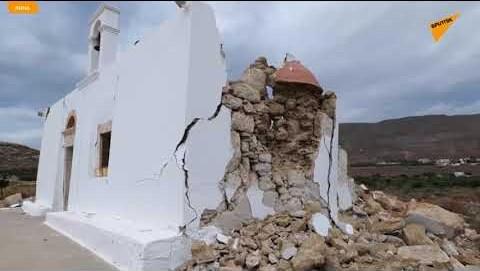 Ισχυρός σεισμός 6,3 Ρίχτερ στην Κρήτη: Κατέρρευσε εκκλησία