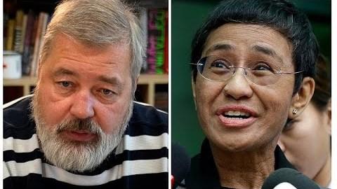 Στους δημοσιογράφους Μαρία Ρέσα και Ντμίτρι Μουράτοφ απονεμήθηκε το φετινό βραβείο Νόμπελ Ειρήνης…