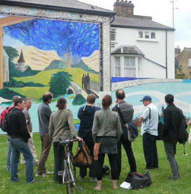 Reclaim the Mural (event photograph), 2011.