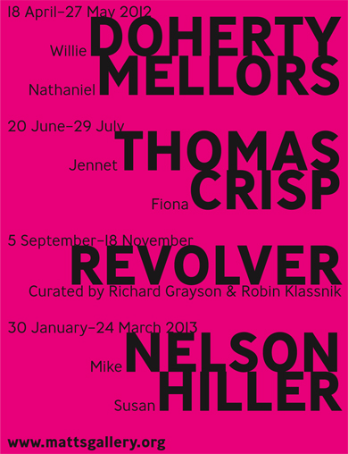 2012-13 Programme - Willie Doherty, Nathaniel Mellors, Jennet Thomas, Fiona Crisp, Revolver curated by Richard Grayson and Robin Klassnik, Mike Nelson, Susan Hiller