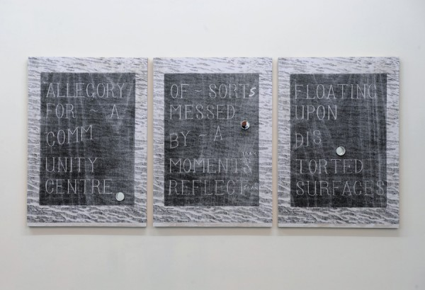 David Osbaldeston, Recollection of a Moment Bound To Reoccur at Some Future Point, 2012. Installation view.