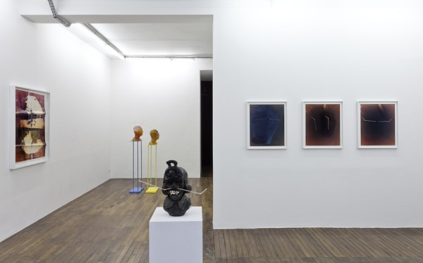 Nathaniel Mellors, installation shot from The Sophisticated Neanderthal at Art Concept, Paris. Courtesy the artist and Art Concept, Paris; Matt's Gallery, London, MONITOR, Rome & Stigter van Doesburg, Amsterdam.