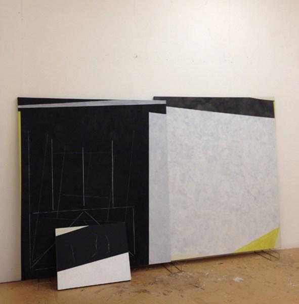 Avis Newman, Avis Newman, Iniquitous Symmetries, 2014. Studio installation shot courtesy Mummery + Schnelle.