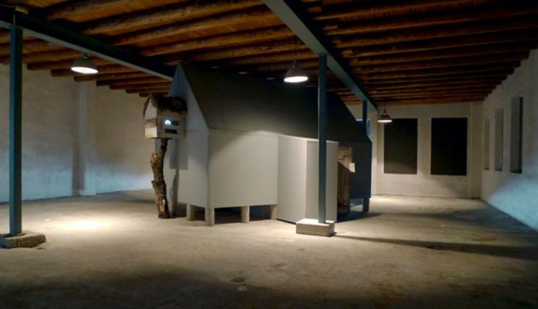 Lindsay Seers, Monocular, Installation view, Lofoten Barrel Factory, Norway, 2011.