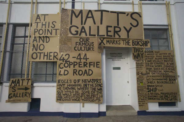 Peter Liversidge, The Sign Paintings, detail, 2014. Photograph by and courtesy of the artist.