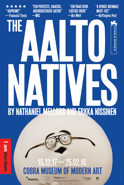 Nathaniel Mellors and Erkka Nissinen, The Aalto Natives, 2017.
