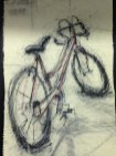 """Patrick G. Putze. """"Untitled."""" Drawing mounted on panel. $200 (Shanley Chien/Medill)"""