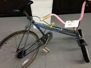 """Chris Castellan. """"Swing Bike."""" (Shanley Chien/Medill)"""
