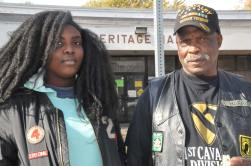Otis Harris with his 16-year-old daughter Niya arrived at the polling place in East Chicago, Indiana at 6:30 a.m. on Nov. 8. (Cloee Cooper/MEDILL)