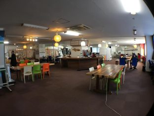 Samurai Startup Island was founded as a hub for Japanese startups in 2011 at Tennozu Isle, a small island in Shinagawa, Tokyo. (Photo by Katherine Lee/MEDILL)