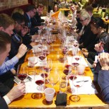 Sommelier Dan Pilkey oversees a blind tasting at the Second City Sommelier's event at Chicago's City Winery on March 5. (Kara Voght/MEDILL)