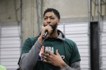 """Serving the community is """"one of my favorite things about All Star Weekend,"""" Anthony Davis said during his appearance with NBA Cares. (Athena Liu/MEDILL)"""