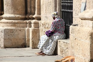 Flowers and pois, Old Havana. (Giulia Petroni/MEDILL)
