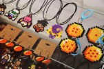 Handmade gaming jewelry is for sale at Raid Gaming Lounge. (Jourdan Kerl/MEDILL)