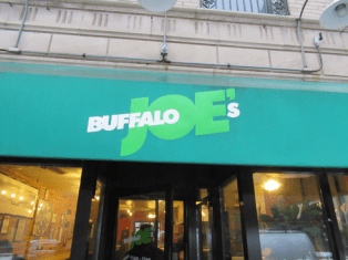 """Buffalo Joe's, more commonly referred to as """"Buff Joe's"""" is a favorite for Northwestern students who like the easy walk to the eatery on Clark Street west of Sherman Avenue Sherman in Evanston. There is a second location in Chicago."""