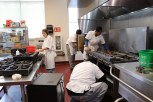 For the first week, students are responsible for all the cleaning in the kitchen. (Lily Qi/Medill)
