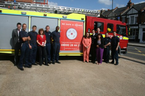 Fire fighters from Wimbledon Fire Station