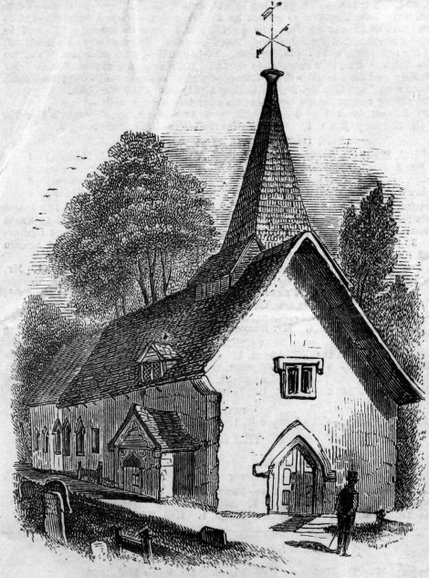 St. Mary the Virgin during the early 19th century - baptism site of Fatima Quasheebaw (all photos sourced as part of the Merton Memories project)