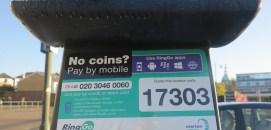 Free RinGo App, Hartfield car park, Wimbledon