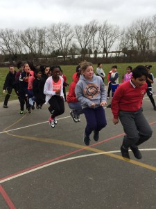 Raising money for Sports Relief