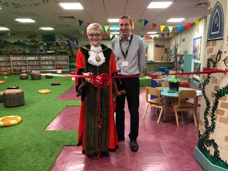 Mayor Of Merton opening sensory area