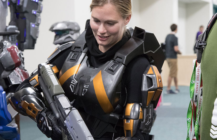 Member of the 405th Infantry Division at San Diego Comic Con 2015