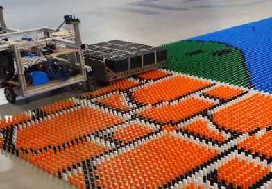 This Autonomous Robot Can Lay Over 100,000 Dominoes in 24 Hours