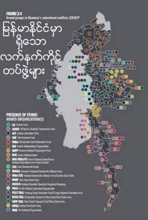 미얀마 반군 현황