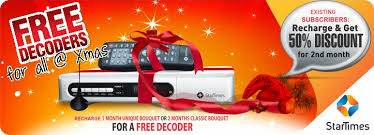 Startimes nigeria christmas promotional giveaways