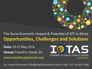 IoT Africa summit to hold on 24 and 25th May 2016