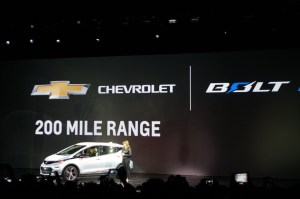 Chevy Debuts its Bolt Electric Car at CES, promises 200-Mile Range
