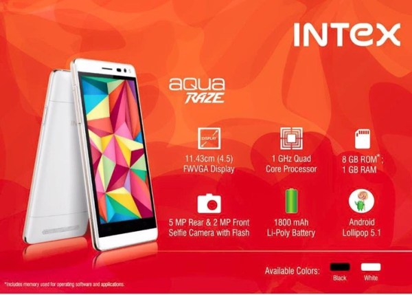 Intex Aqua Wing and Aqua Raze budget 4G smartphones Image 1 Naija Tech Guide