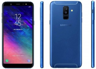 Samsung Galaxy A6+ leaked renders confirm blue and gold paintjobs