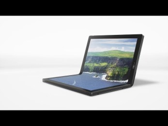 Lenovo debuts a prototype laptop with foldable OLED screen