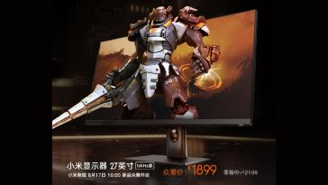 Xiaomi's 27-inch Gaming Monitor is now up for crowdfunding in China.