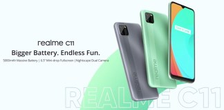 Realme C11 unveils with 6.5-inch display and square-shaped camera module.