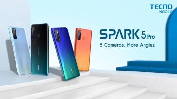 Tecno unveils the Spark 5 Pro in India.