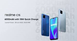 Realme C15 debuts in Indonesia with AI-powered rear cameras and massive battery capacity; to go on sale on July 29.