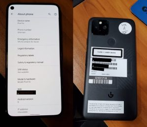 Leaked Live Shots of the Google Pixel 5 reveals its Design and the Pixel 5s Moniker