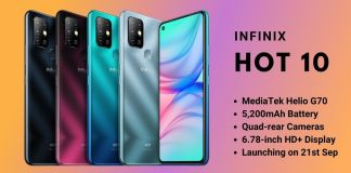 Infinix Hot 10 Debuts in Pakistan with Helio G70 and a Quad-Camera System