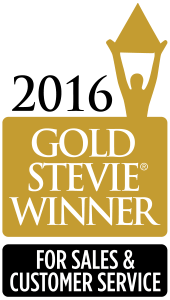 gold stevie winner for innovation in customer service