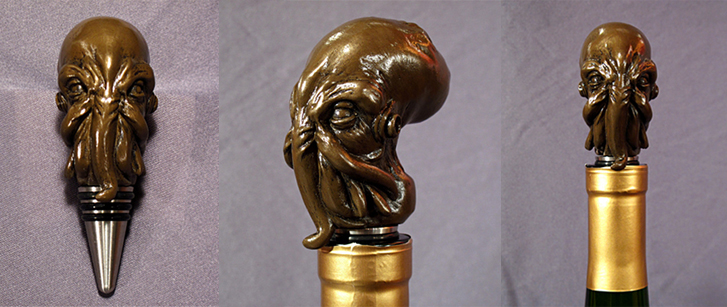 cthulhu cult wine stopper