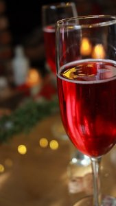Rob McNeill's Hibiscus Brut Rose wine cocktail