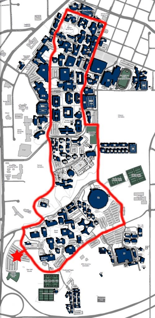 Campus Map Arizona.Northern Arizona University Campus Map