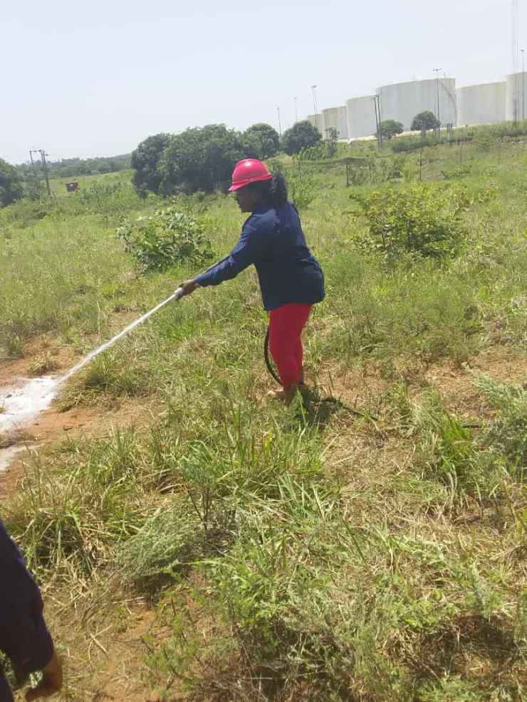 6B - During Test Running of the SAFT Equipments - A Female Fire Fighter Combats fire