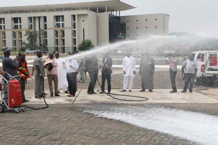 Another Member of the National Assembly Tests the Strength of the AFT Gun | SkyTick Advanced FireFighting Technology | AFT Water Mist