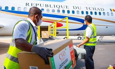 Republic of CHAD Taking Delivery of CVO (COVID-19 Organics) - Source Photo From AfricaNews