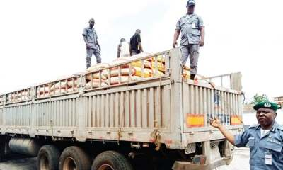 Customs Intercepts Trailer Containing 750 Bags Foreign Rice