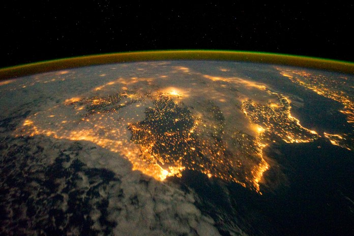 Iberian peninsula pictured from the ISS