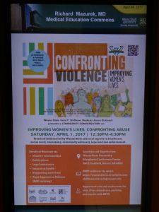 Confronting Violence Improving Women's Lives Banner